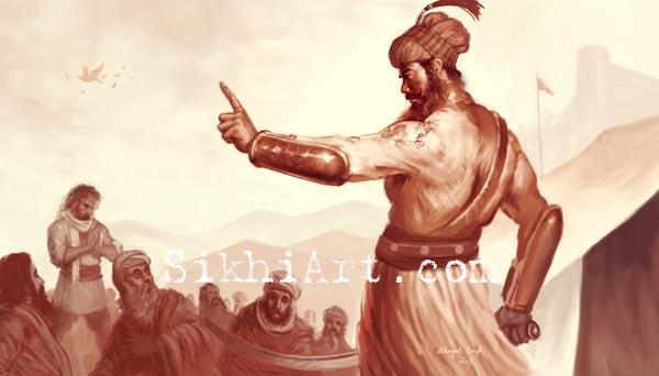 Guru Gobind Singh ji, Vaisakhi, Panj Pyare, Sikhi Art, Punjab Art, Arts and Traditions of Punjab, Art of Sikhism, Sikh Gurus Paintings, Anandpur Sahib, Bhagat Singh Bedi