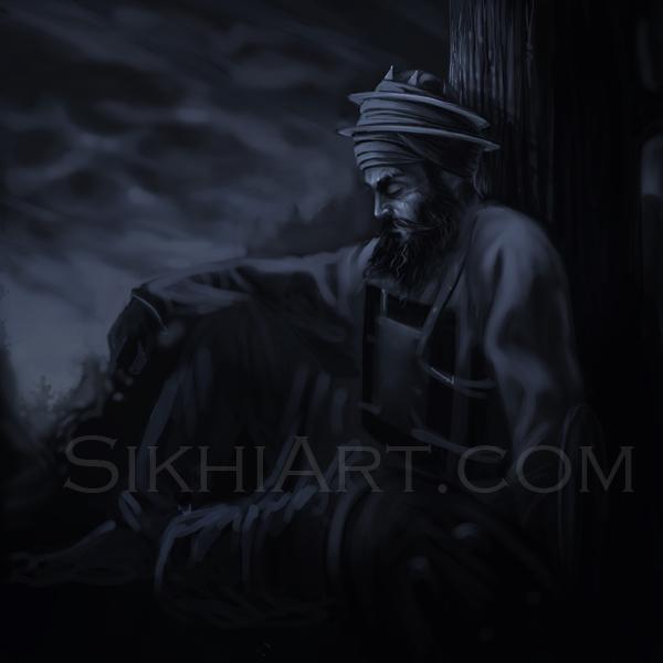 Guru Gobind Singh ji, Machhiwara, Sikh Gurus, Sikhi, Art, Punjab Paintings, Bhagat Singh Bedi