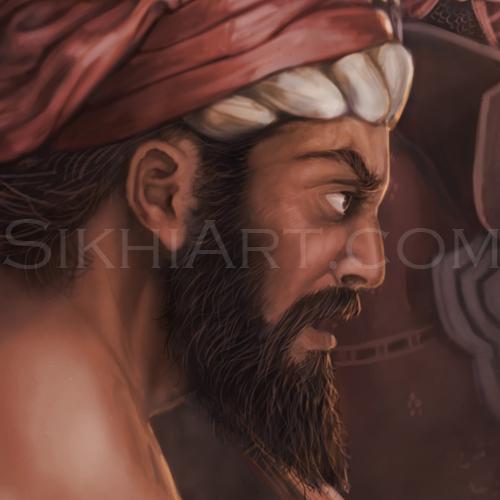 Bhumi Detail, Hindu Militia, Battle of Chamkaur