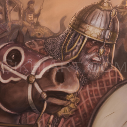 Mansabdar Detail, Mughal Cavalry, Battle of Chamkaur