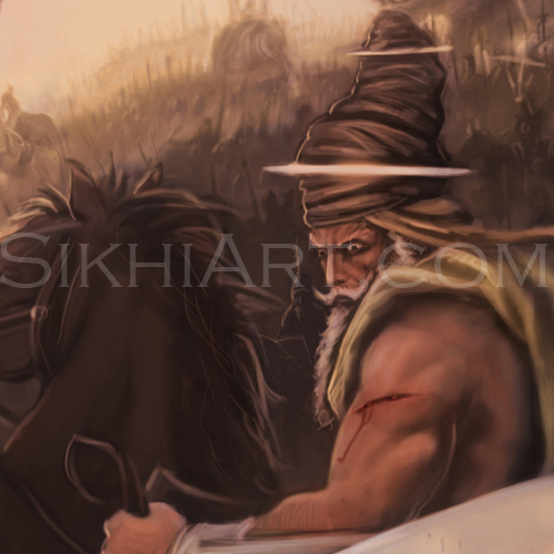 Singh in the back Detail, Battle of Chamkaur
