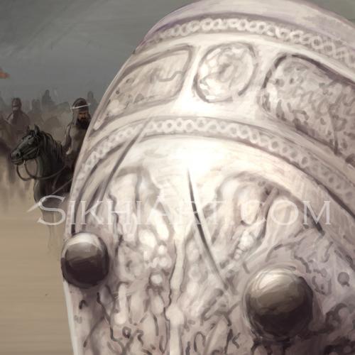 Shield detail, Mai Bhago, Mata Bhag Kaur, Sikh Women