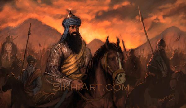 Banda Singh Bahadur, Banda Singh, Gurbaksh Singh, To Victory, Sikh, Khalsa, Laadli Fauj, Sihind, Battle, Sikh Warriors, Sikhi Art, Punjab Paintings, Bhagat Singh Bedi