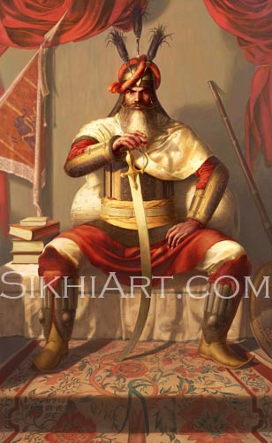 Hari Singh Nalwa, Jamrud, Afghans, Peshawar, Maharaja Ranjit Singh, Ingres, Napoleon, Anglo Sikh Wars, Sikh Art, Sikh Heritage and Painting of Punjabi Sardar, Sikh Warriors, Sikh Art of Bhagat Singh Bedi