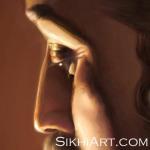 Guru Ramdas ji, Guru Ram Das ji, Father of Guru Arjan Dev ji, expression longing emotion shown in Eyes close-up