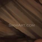 Guru Ramdas ji, Guru Ram Das ji, Father of Guru Arjan Dev ji, Dumalla turban fabric brushes close-up