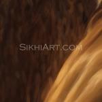 Guru Ramdas ji, Guru Ram Das ji, Father of Guru Arjan Dev ji, Beard brushes highlights details