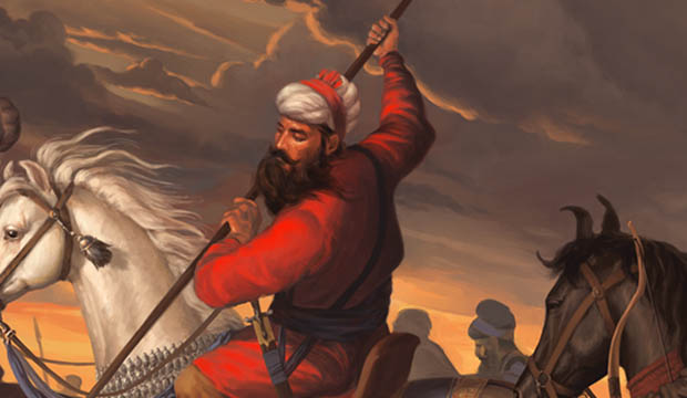 Detail from painting of Banda Singh Bahadur