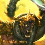 Snake strangles demon