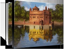 Harimandir Sahib White Edge- Black edge Premium Gloss Canvas  Bhagat Singh Bedi